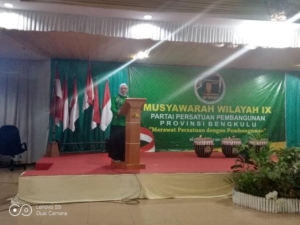 Muswil IX, Waketum DPP: PPP Harus Bersinergi dengan Gubernur Membangun Bengkulu